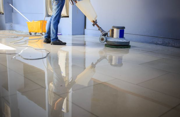 Commercial flooring refinishing stripping and waxing